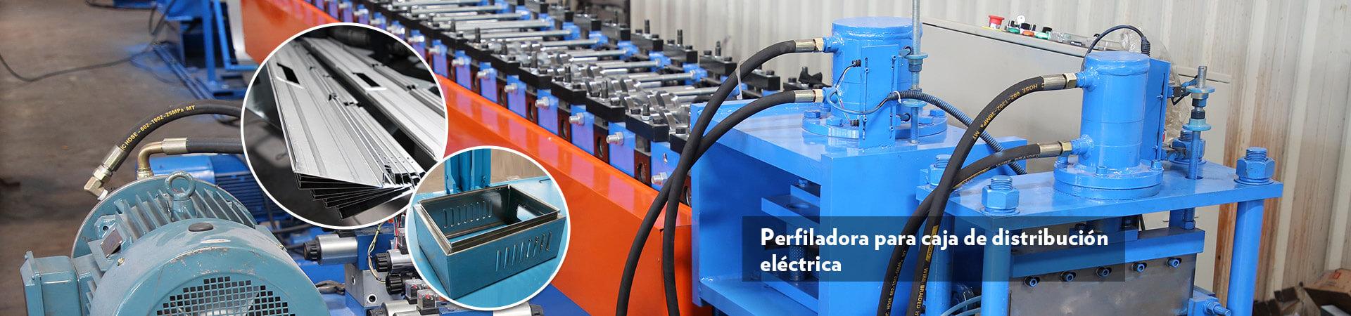 Perfiladora para caja de distribución eléctrica