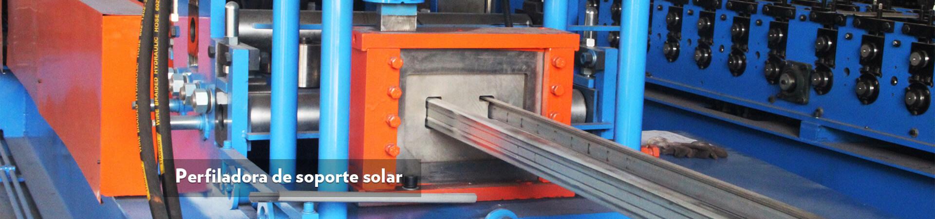 Perfiladora de soporte solar