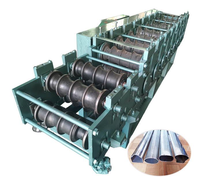 Máquina perfiladora de tubos elípticos de acero inoxidable