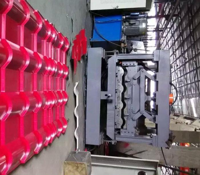 Techo acanalado cubierta de tejas esmaltadas rollo formando la máquina