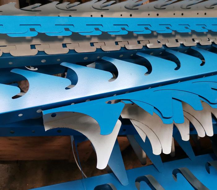 Perfiladora para marco de acero