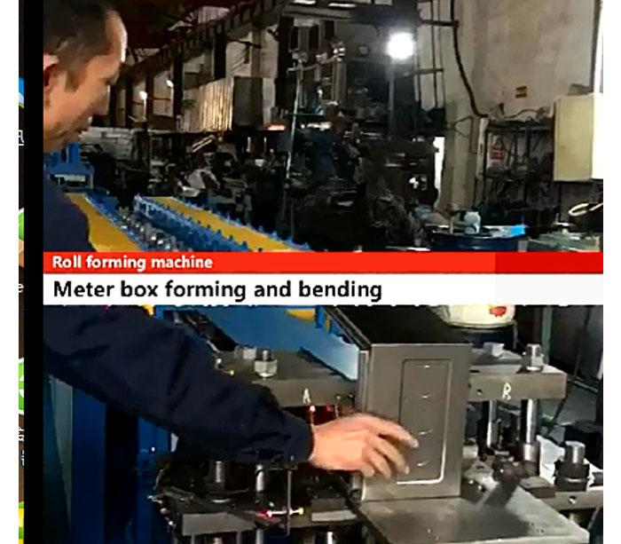 Máquina perfiladora de cajas de medidor eléctrico
